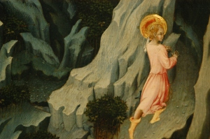 Giovanni di Paolo, St John enters the Wilderness